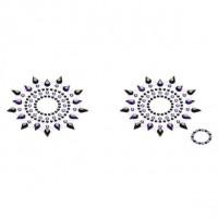 Пестіс з кристалів Petits Joujoux Gloria set of 2 - Black / Purple