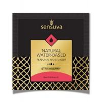 Пробник лубриканта на водній основі Sensuva - Natural Water-Based Strawberry (6 мл)