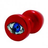 Анальна пробка Diogol Anni R Eye Red Кристал 30мм, кристал Swarovsky у вигляді ока