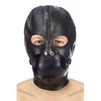 Капюшон з кляпом Fetish Tentation BDSM hood in leatherette with removable gag