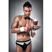 Чоловічий еротичний костюм офіціанта Passion 020 SLIP black L/XL