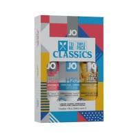 Набір System JO Tri-Me Triple Pack - Classics (3 х 30 мл) водна, силіконова і смакова мастила