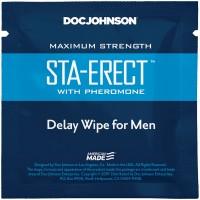 Пролонгуюча серветка Doc Johnson Sta-Erect Delay Wipe For Men