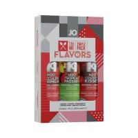 Набір System JO Tri-Me Triple Pack - Flavors (3 х 30 мл) три різні смаки оральних мастил