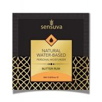 Пробник лубриканта на водній основі Sensuva - Natural Water-Based Butter Rum (6 мл)