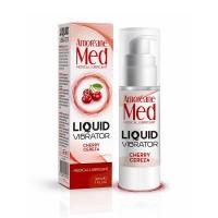 Лубрикант з ефектом вібрації Amoreane Med Liquid Vibrator Cherry (30 мл)