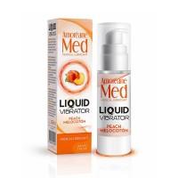 Лубрикант з ефектом вібрації Amoreane Med Liquid Vibrator Peach (30 мл)