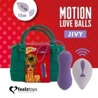 Вагінальні кульки з масажем і вібрацією FeelzToys Motion Love Balls Jivy