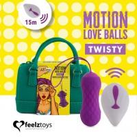 Вагінальні кульки з масажем і вібрацією FeelzToys Motion Love Balls Twisty