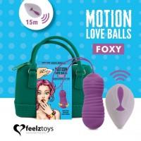 Вагінальні кульки з перловим масажем FeelzToys Motion Love Balls Foxy